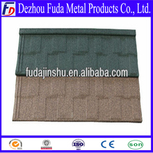 Light weight stone chips coated metal roof tile building material