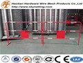 red powder coating round pipe crowd control barrier with reflective stripe for france market