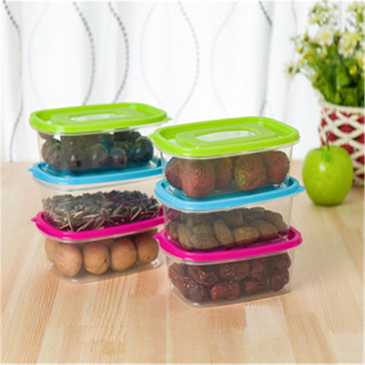 Candy Color Large Size Crisper Multifunctional Sealed Fresh Keeping Storage Box