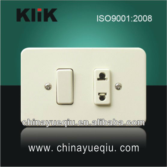 Pop up wall mount power duplex socket outlet