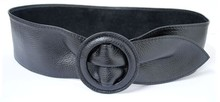 2014 genuine soft cow leather belt with covered slide buckle