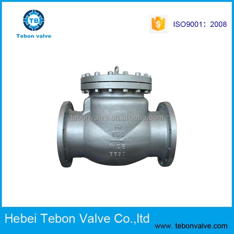 API Cast Steel Swing Check Valve, ANSI Carbon Steel Swing Check Valve WCB Flanged Swing Check Valve, Made in China