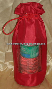Polyester bottle pouch with front window