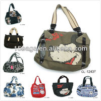 Fashion promotion printing canvas design handbag