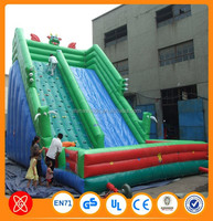 Amazing exciting sport games PVC Tarpaulin inflatable pirate ship water slide