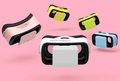 2016 mini vr glasses Virtual Reality 3D Glasses with Headphone vr box mini Support Android iOS