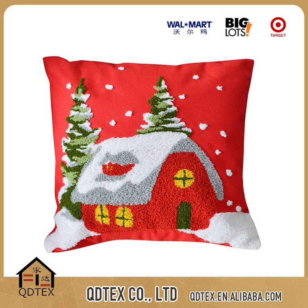 cheap christmas cushion factory supplier pillow cover