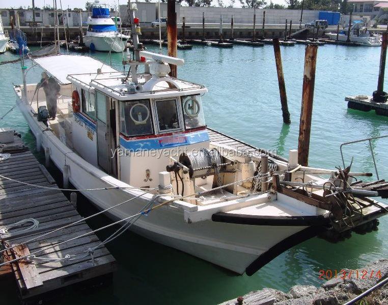 Japan used fiberglass fishing boat meters j119 hot for Japanese fishing boat