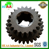 China supplier best quality stainless steel cnc grinding double spur gear TS 16949 approved black oxide spur gear
