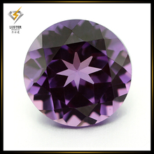 Round Brilliant Cut 8mm Color Change Synthetic Alexandrite Sapphire Corundum