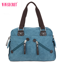High end quality designer personal shoulder bag guangdong blue cotton canvas handbag for IPAD