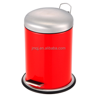 rubber painted household dustbin with pedal