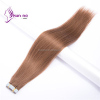 linyi peruvian remy hair extension silky straight PU tape hair extension