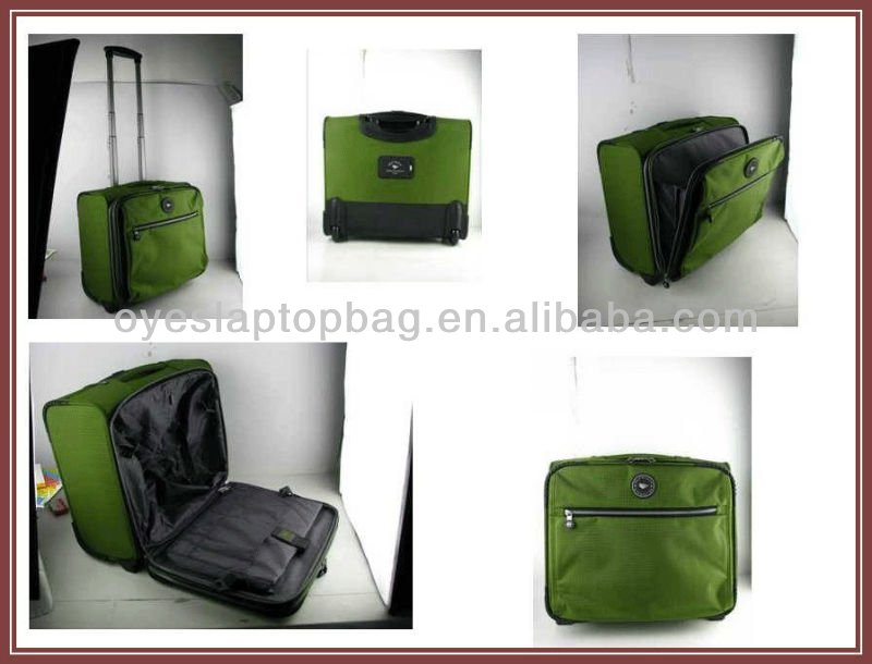 durable nylon trolley bag laptop bag for wheels
