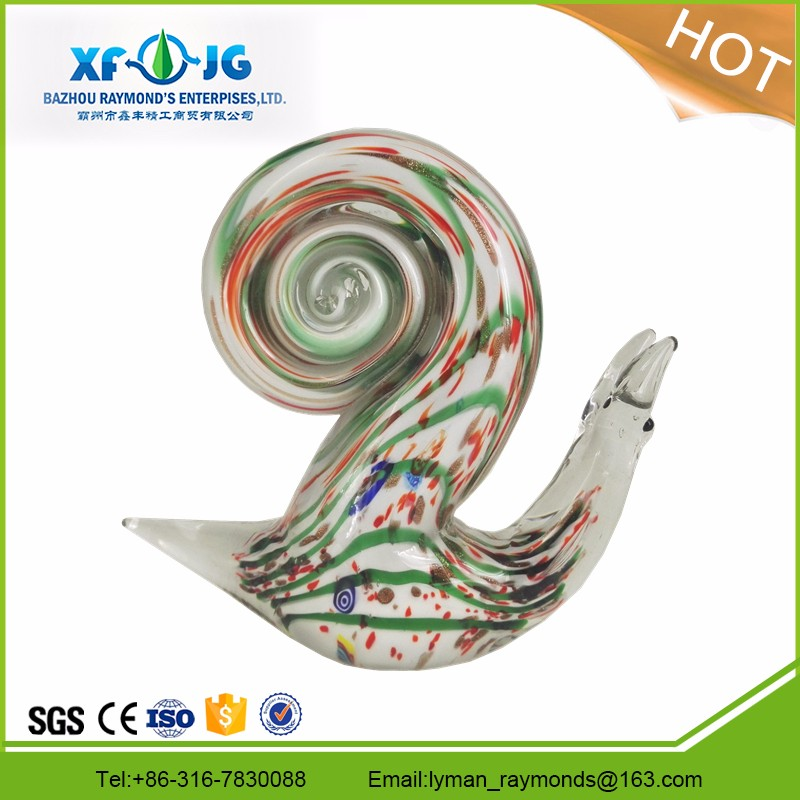 Murano mini figure glass snail for home decoration