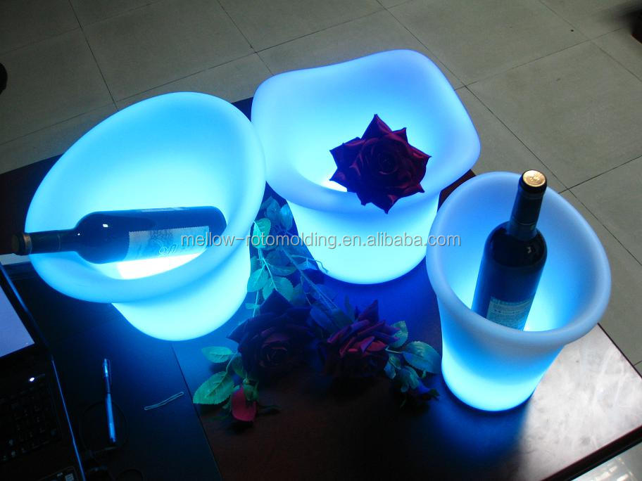 led RGB color shift ice cooler container
