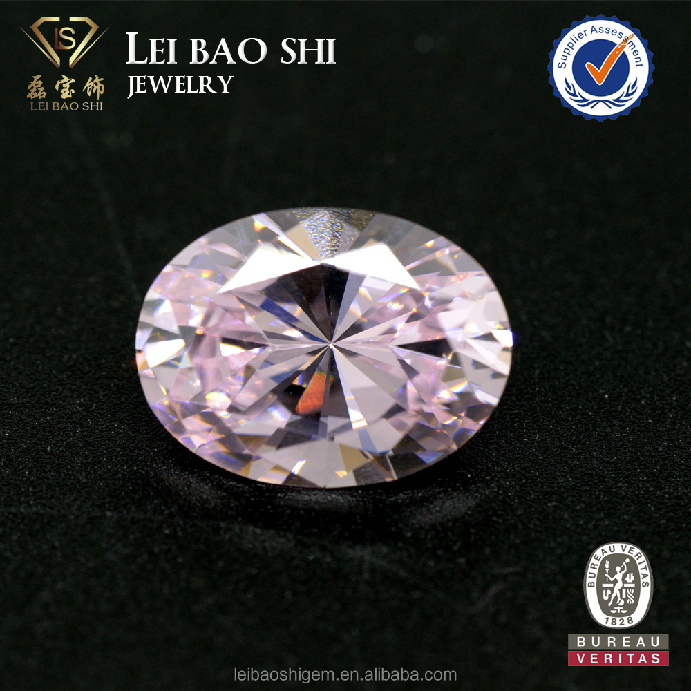 Loose oval shape cubic zirconia stone light pink cubic zirconia gemstone