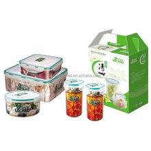 Plastic bread box and canister set as gift for picnic