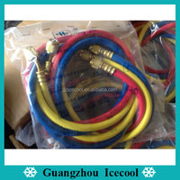 High quality Hengsen 1.5m refrigeration R410a Freon 3 colors charging hose