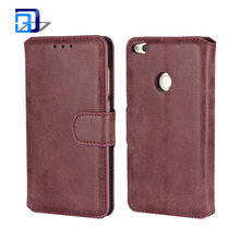 Hot Selling Vintage Matte Magnetic Flip PU Leather Case with Stand Wallet Card Slot Protective Cover for Huawei P8 Lite 2017