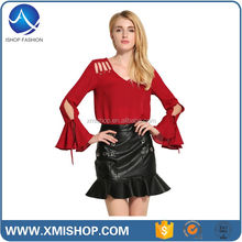 New Design Fashion Printed Beautiful Blouses For Women