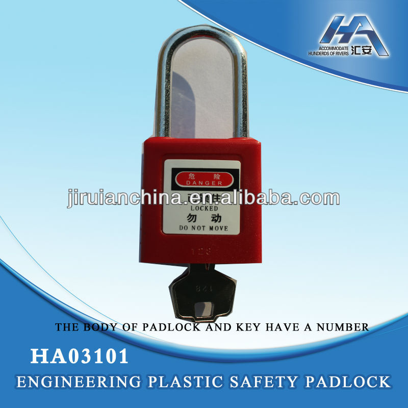 Safety Padlock,ABS padlock,with number code