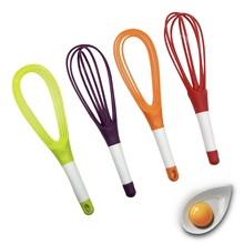 Twist egg Whisk 2-in-1 Balloon and <strong>Flat</strong> novelty silicone egg whisk