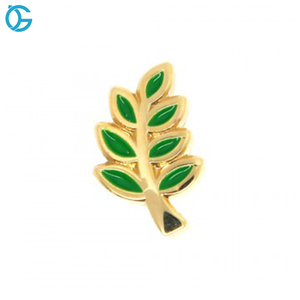 Custom Factory Acacia Leaf Lapel Pin