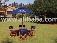PROMOTIONAL UMBRELLA,FOLDING TABLE AND DIRECTORS CHAIRS SET