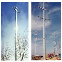 electric transmission line steel tube tower China manufacturer