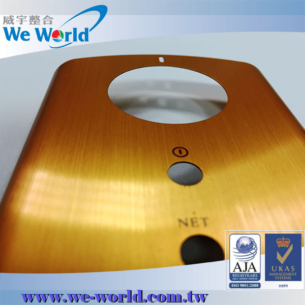 Color anodized aluminum beautiful mobile phone back cover