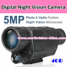 5 MP digital telescope with video/photo recording during day or night function