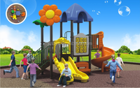 JINGQI TOYS Sunflower Used Outdoor Playground Equipment For Sale