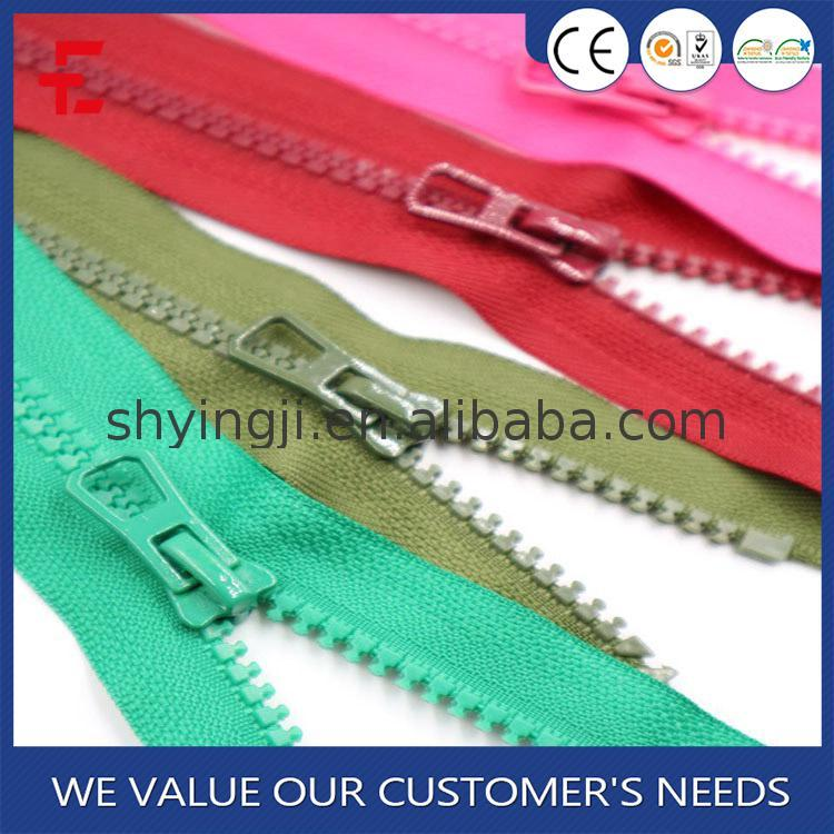 New brand 2017 manufacturer sale color resin zipper for
