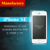 2016 new arrived!! 9H tempered glass screen protector film for iphone se , cell phone accessory for iphone se tempered glass