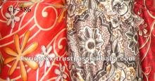 2017 New design 100% cotton printed velvet upholstery fabric
