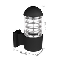 Waterproof Aluminum Glass Lampshade LED Wall Light Fixtures IP65 Wall Lamp E27 Socket AC 85-240V Outdoor Lighting Without Bulb