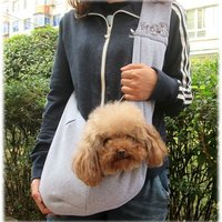 Cotton pet sling carrier/dog bag easy to carry/cute dog sling bag