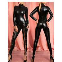 Abbille Ladies PVC Rubber Latex Leather Bodyshaper Zentai Catsuit