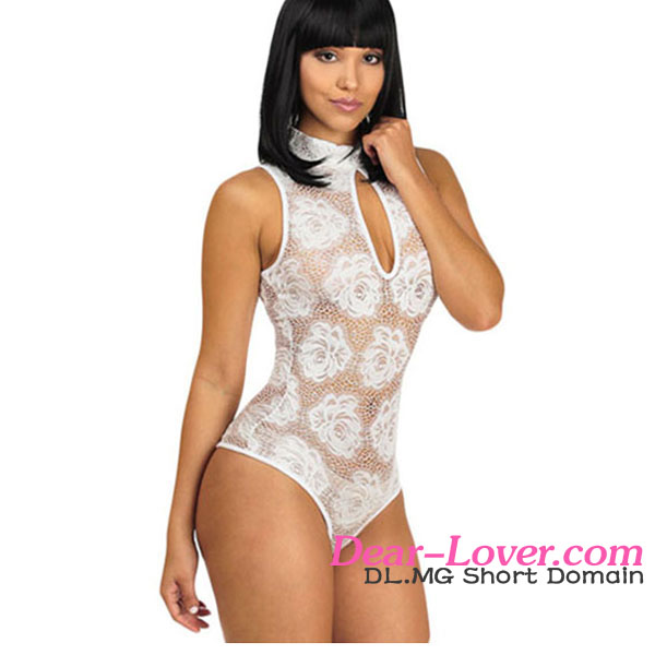 Wholesale Sexy Floral Lace Sleeveless Teddies Lingerie cheap bodysuit for weight loss