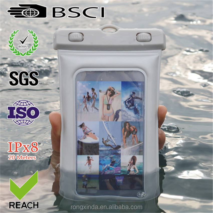 China Suppliers Alibaba Hot Waterproof Case With Earphone For iPhone Touch Screen Waterproof Underwater Pouch Dry Bag Case Cover