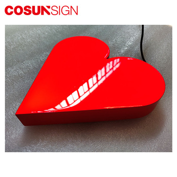 COSUN Laser cutting bending metal epoxy resin LED letter sign