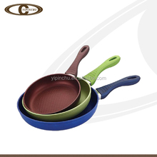 Portable platinum pressed ceramic frying pan