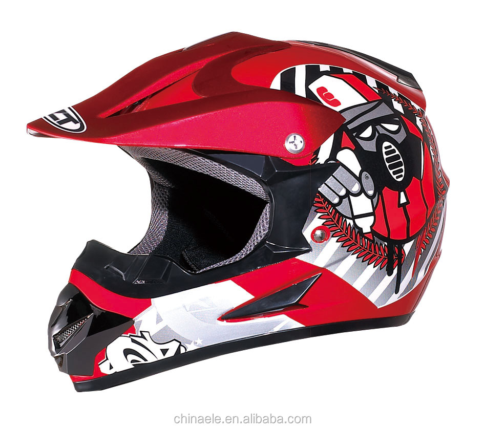 DOT CE CERTIFICATE CROSS HELMET IN ABS MTERIAL