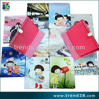 professional manufacturer cute cartoon printing leather case for iPad Mini