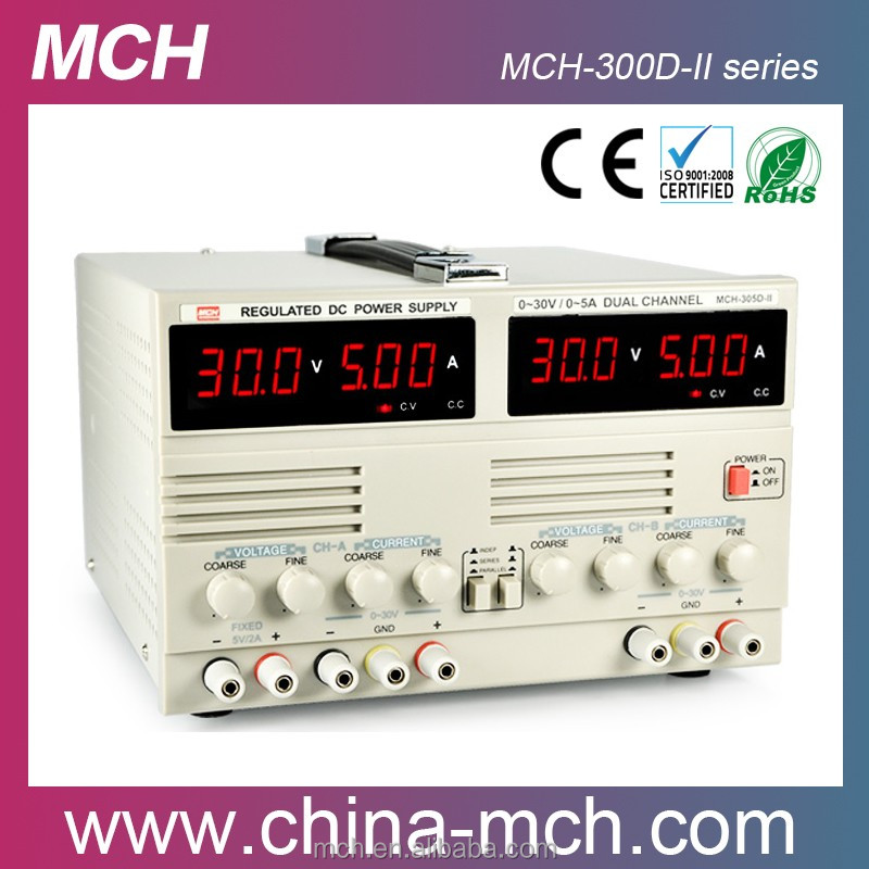 Domestic market 90W 110/220V linear power supply 2 channels adjustable 0-30v 3amp DC power supply MCH-303DII