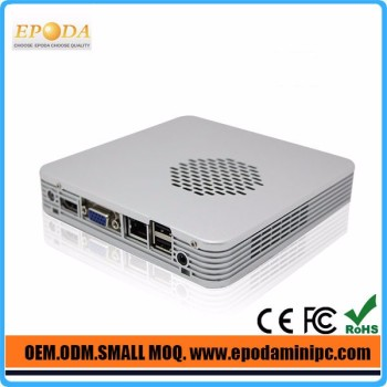 China Smallest Intel Celeron 1037U Mini PC 1.80Ghz CPU Fanless Mini Barebone PC, USB2.0, USB3.0, WiFi, VGA