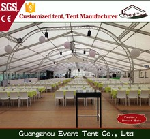 A Frame 1500 Capacity Clear Roof Top Transparent Wedding Tent With Wood Flooring