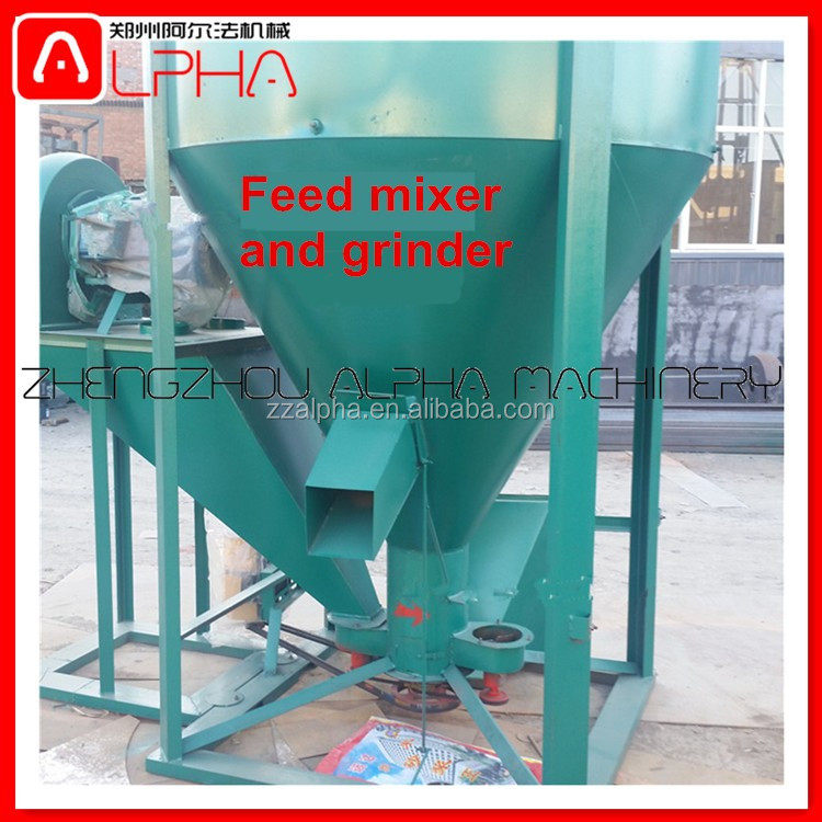 Fully automatic mixing machine animal feed/Vertical feed processing machine/mixer for pig feed