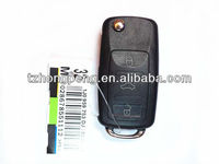 replacement 3 button flip car remote key cover for volkswagen b5 key shell